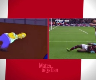 Replay Quand Michail Antonio célébrait un but façon Homer Simpson... : Football - Premier League