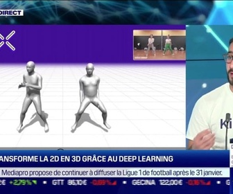 Replay Tech & Co - Yassine Tahi (Kinetix) : Kinetix transforme la 2D en 3D grâce au deep learning - 18/01