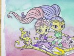 Replay 1, 2, 3... Coloriage ! | Shimmer & Shine | Le tapis volant | Episode entier