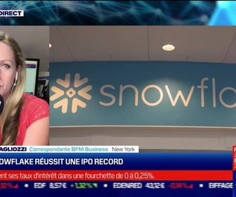 Replay Tech & Co - What's up New York : Snowflake réussit une IPO record - 16/09